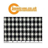 Porsche Pepita Houndstooth Cloth. Black White